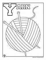 Letter Coloring Alphabet Pages Activities Yarn sketch template