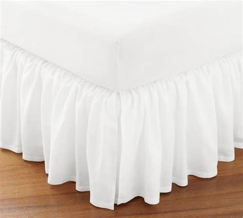 Pottery Barn Bed Skirts by Flounced Linen Bed Skirt Cal King White Pottery Barn