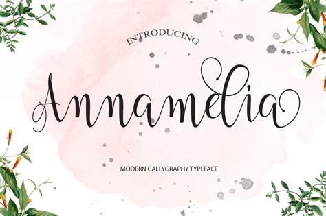 annamelia script  font script  font