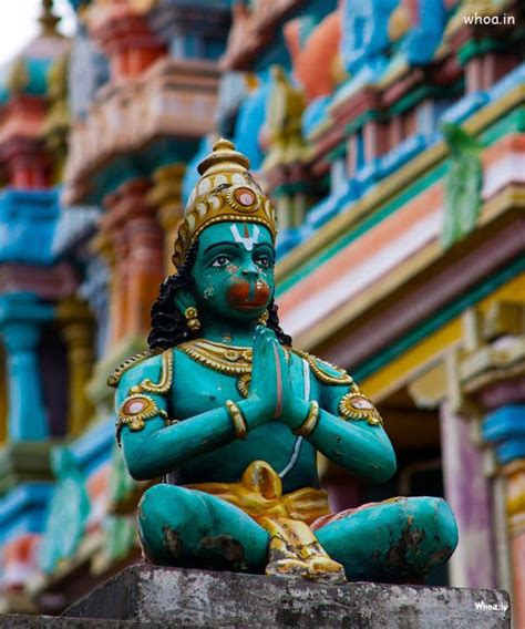 lord hanuman colorful statue hd images