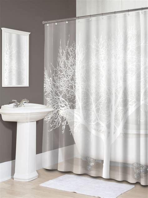 new pearl white home tree vinyl shower curtain modern