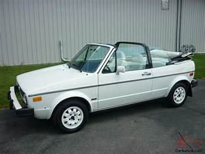 Awesome 1985 Volkswagen Cabriolet  28k Miles  Triple White