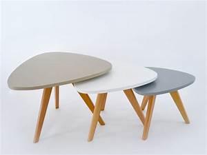 Table Basse Gigogne Scandinave : tables basses triangle infinity art d co ~ Voncanada.com Idées de Décoration