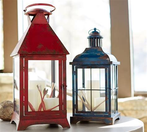 pottery barn outdoor lanterns palmetto painted lanterns pottery barn