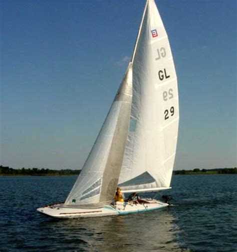 Scow Sailboat by Johnson E Scow 28 Sailboat For Sale