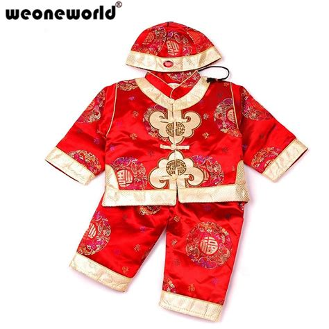WEONEWORLD Chinese Style Traditional Embroidery Kids Clothes New Year Baby Boys Clothes Cotton ...