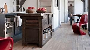 Cuisine Style Industriel Bois : etabli meuble cuisine mobilier pour cuisine cbel cuisines ~ Teatrodelosmanantiales.com Idées de Décoration