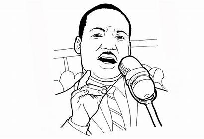 Luther Martin King Coloring Pages Printable Adults