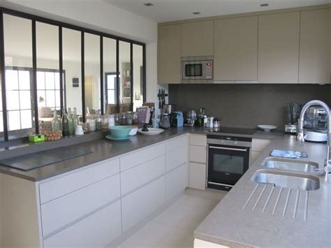 exemple de cuisine en u cuisine avec verrière intérieure 6 exemples réussis