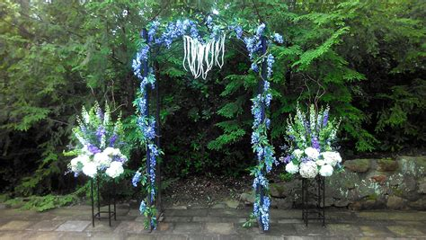 Silk Wisteria Covered Arch With Fresh Floral Large