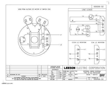 Leeson Motor Wiring Diagram Impremedia