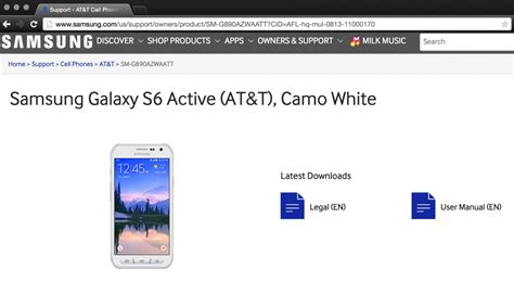 galaxy s6 active revealed on samsung website ahead of launch