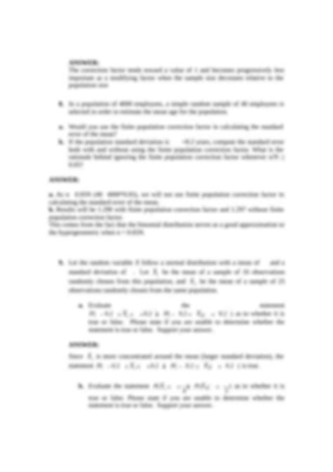 a Calculate the mean and standard deviation of the mean of