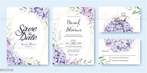 Wedding Invitation Save The Date Thank You Rsvp Card