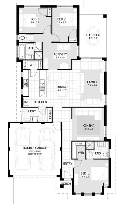 3 Bedroom House Floor Plans by Beautiful Unique 3 Bedroom House Plans New Home Plans Design