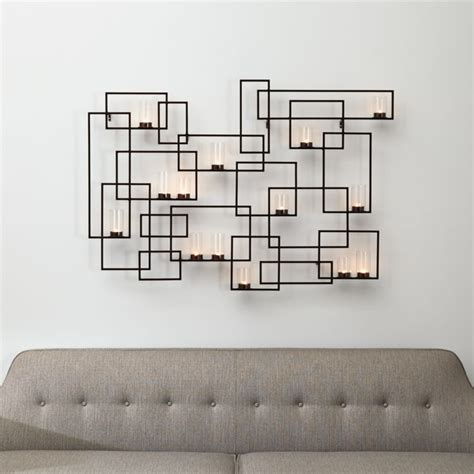 circuit metal wall candle holder reviews crate  barrel