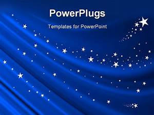Powerpoint Template  Blue Curtain Background With White