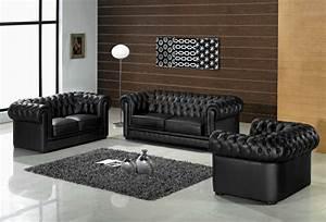 fauteuil de salon en cuir idees de decoration interieure With tapis enfant avec canapé vrai cuir