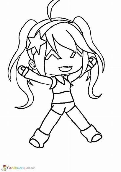 Gacha Coloring Pages Anime Raskrasil Drawings Angel