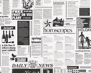 Newspaper Wallpaper, - Contemporary - Wallpaper - by ...
