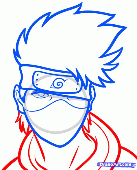 easy pictures to draw how to draw kakashi easy step by step naruto characters anime draw japanese anime draw