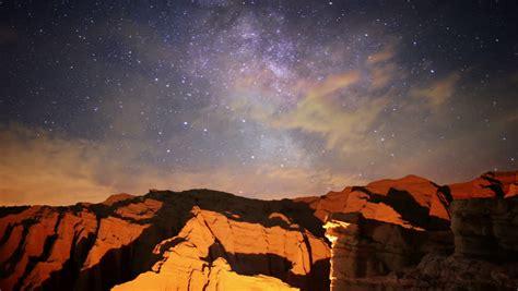 Milky Way Galaxy 84 L Timelapse Mojave Desert Red Rock