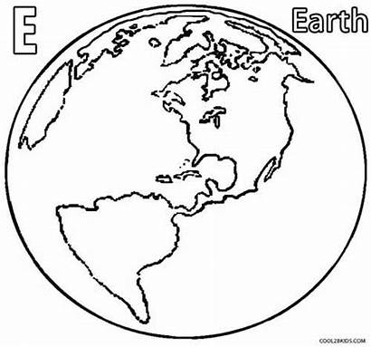 Coloring Pages Earth Printable Cool2bkids Space Drawing
