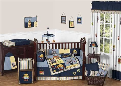 Robot Crib Bedding Set By Sweet Jojo Designs