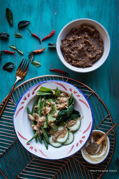 pecel indonesian peanut sauce  salad