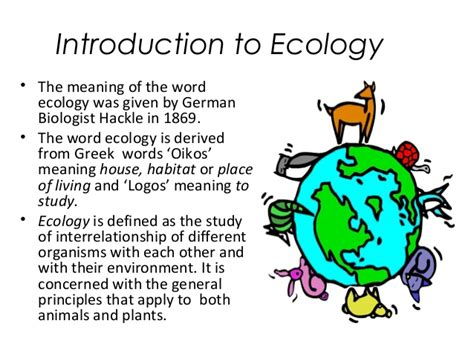 Ecology And Ecosystem
