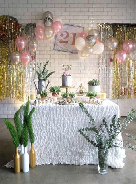 21st birthday decorations kara s ideas marble inspired 21st birthday