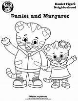 Coloring Daniel Tiger Neighborhood Margaret sketch template