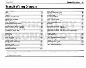 2015 Ford Transit Wiring Diagram Manual Original