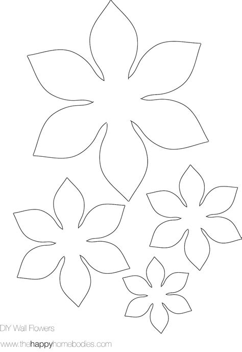 Flower Template Printable Printable Flower Templates Coloring Home