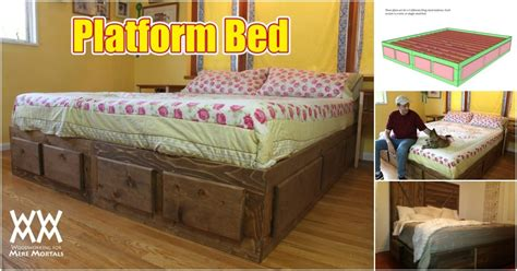 build  king size bed  extra storage   plans diy crafts