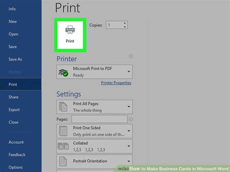 business card template for word 2013 how to make business cards in microsoft word with pictures