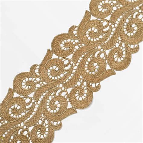metallic antique gold thread lace trim  joyce trimming