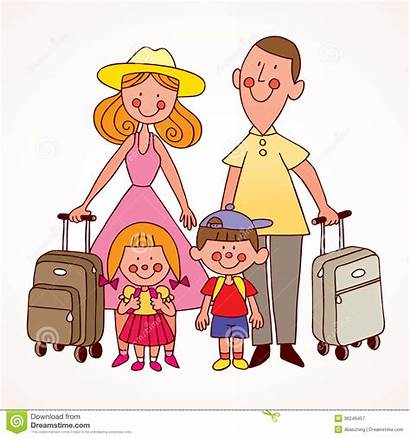 Clipart Travel Traveling Trip Ready Four Clip