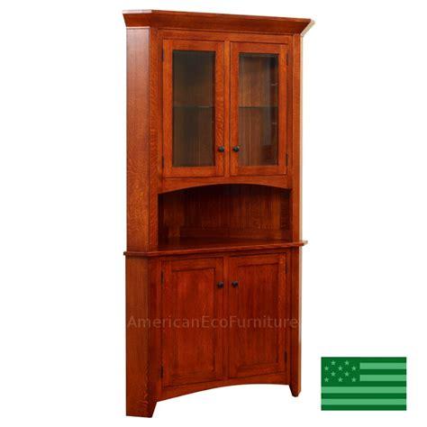 corner china cabinet hutch amish sebring corner hutch solid wood made in usa