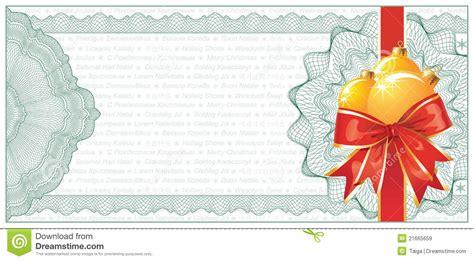 golden christmas gift certificate  discount stock vector