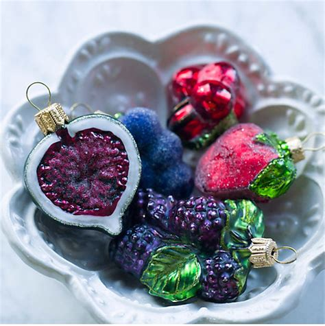 glitter fruit  vegetable christmas ornaments ohcarlene
