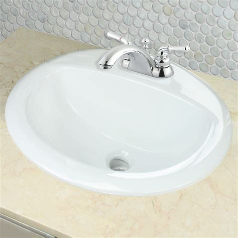 Nantucket Sinks Di2017 4 Drop In Oval Ceramic Bathroom