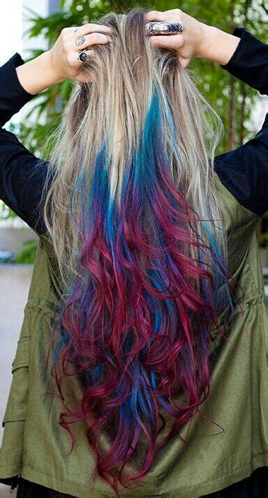 Blone Blue Pink Hair Long Id Like This Better Without