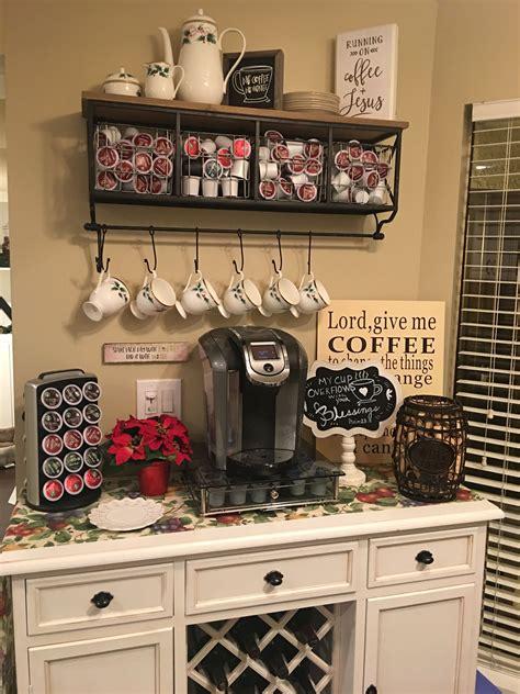 charming corner coffee bar ideas   home
