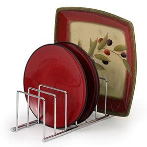 amazoncom spectrum diversified euro lid organizer plate rack lid holder square chrome