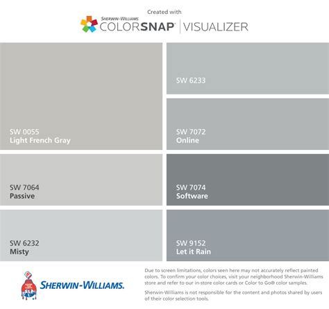 actual colors i will use to paint the house light gray sw 0055 passive sw 7064
