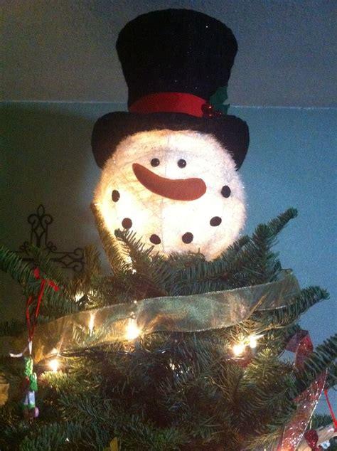 snowman tree topper from cracker barrel holidays pinterest