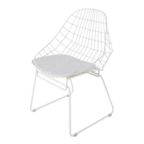 chaise metal maison du monde chaise en métal blanche orsay maisons du monde
