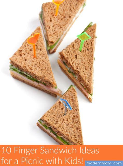 finger sandwich ideas   picnic  kids modernmami