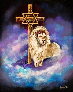 Lion Of Judah Original Painting Forsale Painting by Nadine